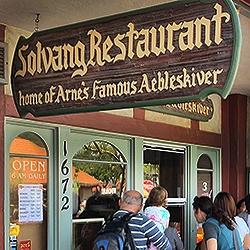 Solvang Restaurant Famous Danish Aebleskiver Solvang Ca